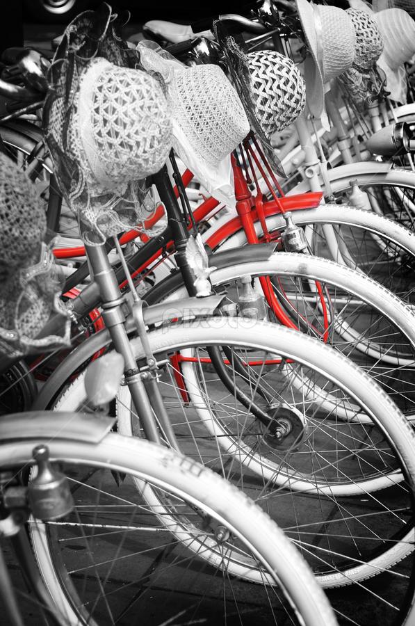 Red Bike by Jenni Ertanto - Transportation Bicycles ( red, bike, art, bw, transportation )