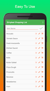 Simplest Shopping List Pro 2.1.0 MOD for Android 1