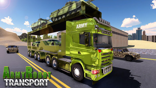 US Army Tank Robot Transform Cargo Plane Transport 2.0.1 screenshots 2
