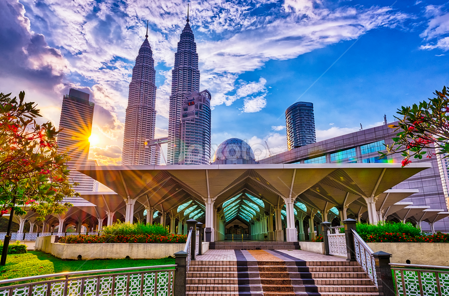 KLCC, Malaysia by Marcus Leng - City,  Street & Park  Historic Districts