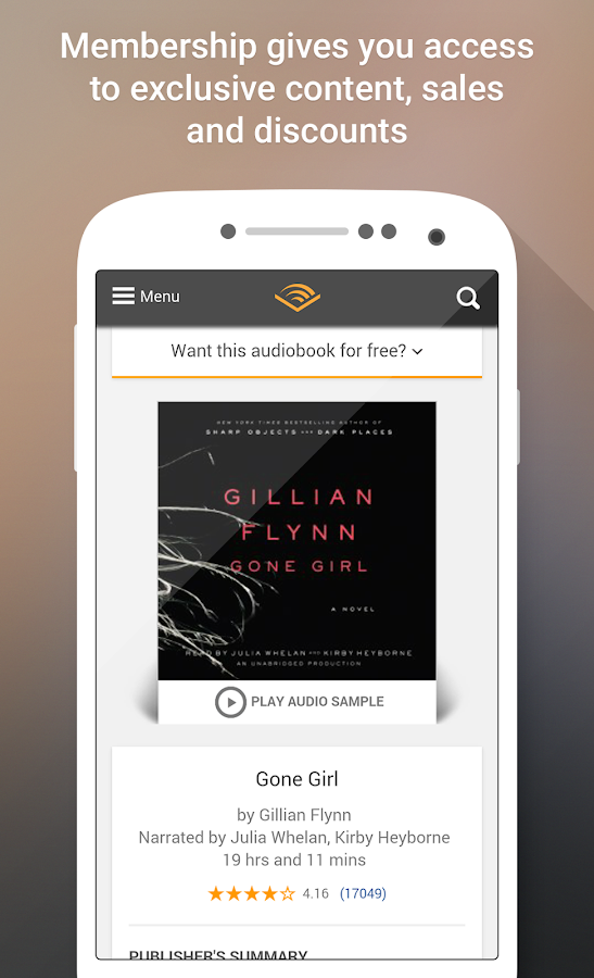 Audible for Android- screenshot