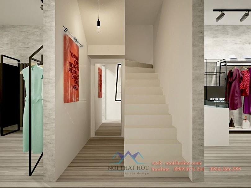 thiết kế shop thời trang màu xám