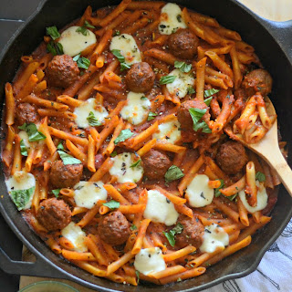 One Pot Mini Meatball Pasta