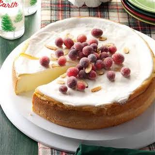 Amaretto Ricotta Cheesecake.
