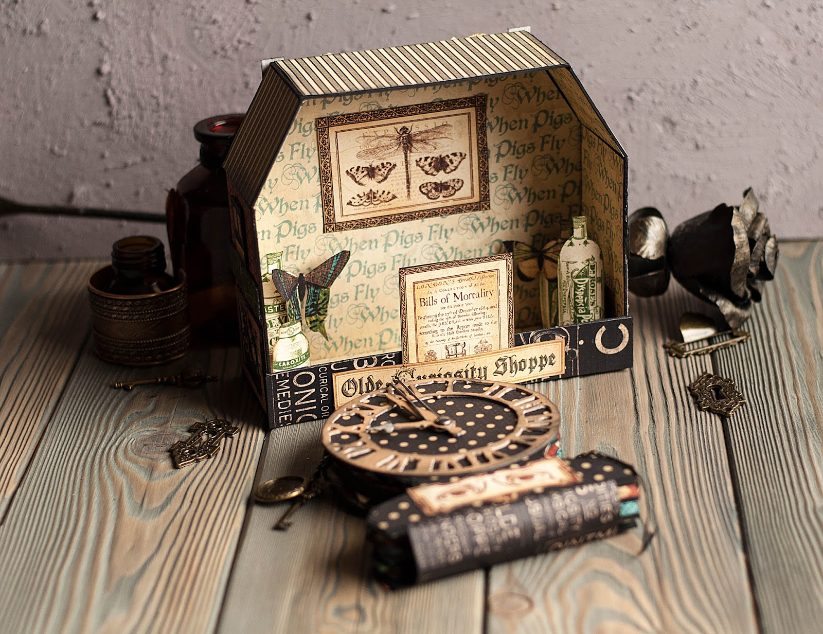 Olde Curiosity Shoppe-Album and Shoppe-tutorial by Lena Astafeva-products by Graphic 45-28.jpg