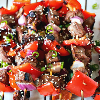Asian Steak Skewers Recipe