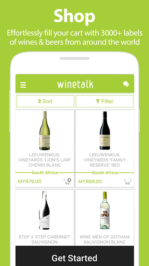 Wine Talk App : Shop for Wines- screenshot