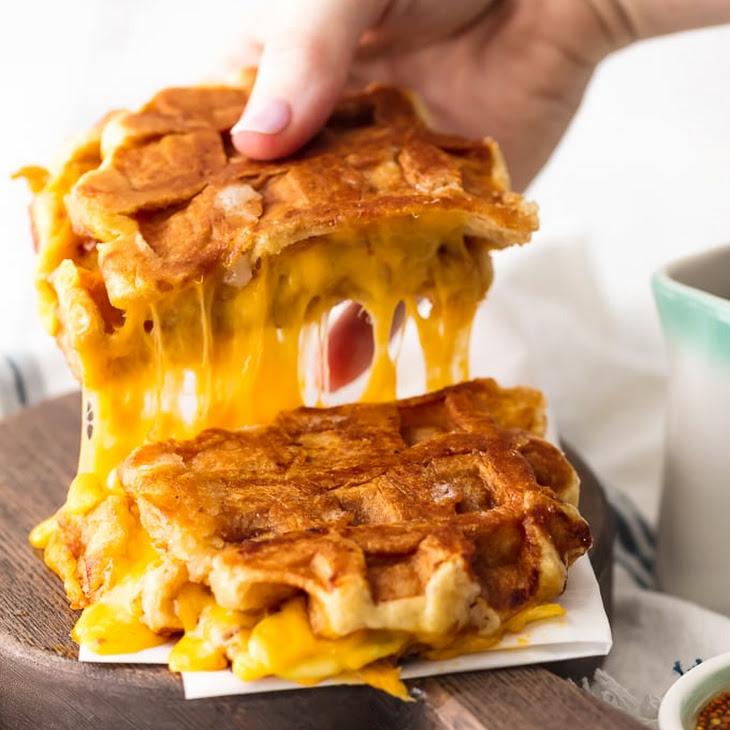 Apple Cheddar Waffle Sandwich Recipe