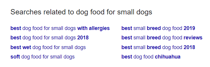Google related searches