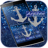 Glitter anchor Keyboard Theme