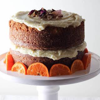 Clementine and Hazelnut Cake with Orange Blossom Buttercream.