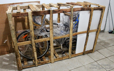 Bike packed from shipping
