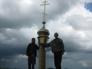 Photo: после грозы установили купол с крестом
