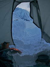Photo: East Ridge tommorow. View from our tent.