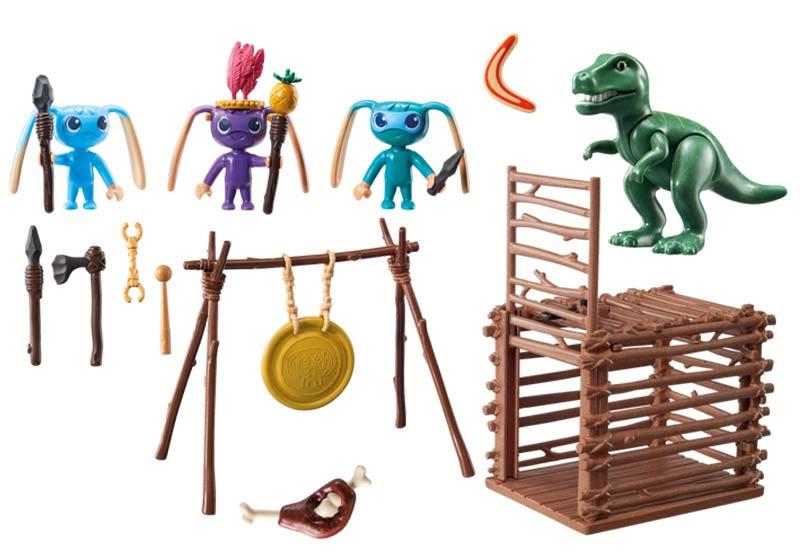 Contenido de Playmobil® 9006 Guerrero Allien con Trampa T-Rex
