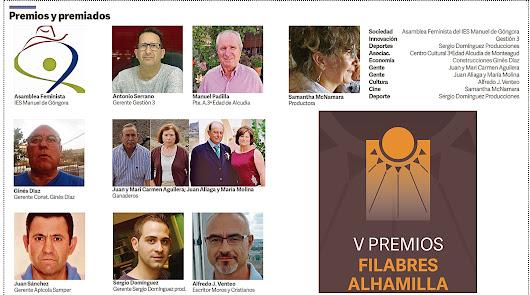 Tabernas acoge hoy los V Premios de la comarca