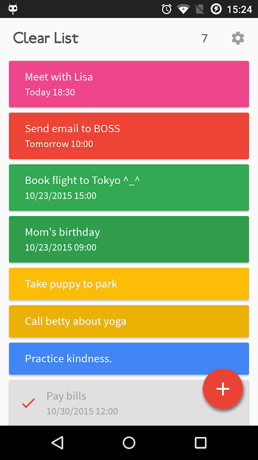 Clear List To-Do & Reminder- screenshot