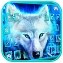 Blue Night Wolf Keyboard Theme icon