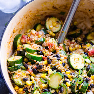 Tex Mex Rice and Beans with Zucchini.