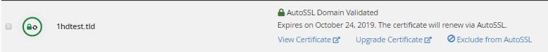 Nếu Xác minh tự động thành công, Chứng chỉ SSL mới sẽ được cài đặt