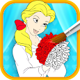 Princess Girl Coloring icon