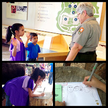Photo: National Park #2. They learned lots while earning their Junior Ranger badges at Mt Rushmore. We like her mustache on Teddy Roosevelt