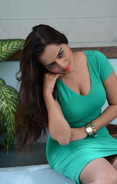 meghna patel in green dress