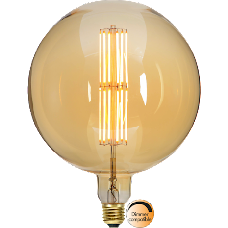 Led Lampa E27 Industrial Vintage G200 Amber 650 Lumen