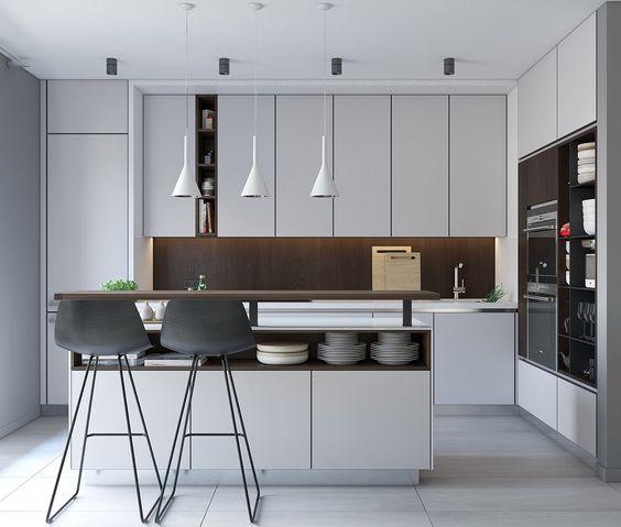 Bố trí đèn trong phòng bếp chung cư một cách hợp lý