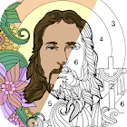 Bible Coloring - Paint by Number, Free Bible Games icon