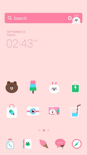 Sweet.F LINE Launcher theme