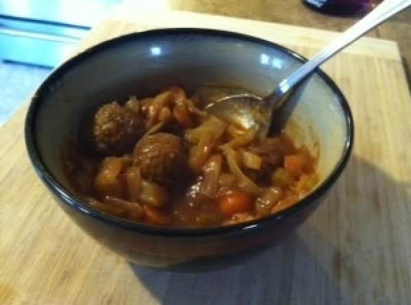 Hearty Meatball Vegetable Stew Recipe