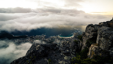Photo: Break  Shot high above Cape Town from Table Mountain. Wouldn't have had a chance to shoot this at sunset if not for getting stuck on the mountain when the cable car broke down. We eventually made it down a few hours later :)