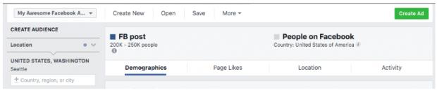 Bảng điều khiển Trình quản lý quảng cáo Facebook