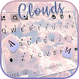 Pink Clouds Keyboard Background