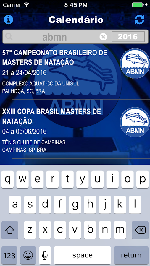 ABMN app- screenshot