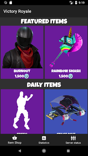 Victory Royale - Stats and item shop for Fortnite for PC