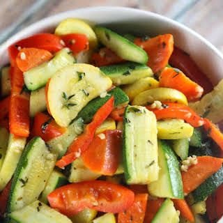 Sauteed Vegetables with Herbs and Garlic.