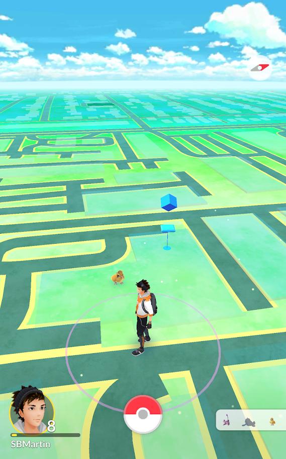 Finde wilde Pokémon auf der echten Weltkarte