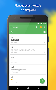 Texpand Pro - Text Shortcuts Screenshot