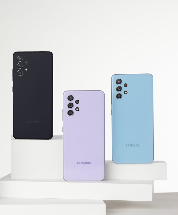The Galaxy A32 LTE and 5G models are available in Awesome Black, Awesome Blue and Awesome Violet.