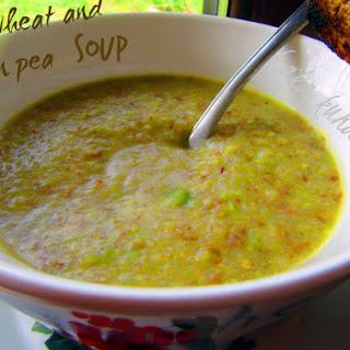 Buckwheat And Green Pea Soup.