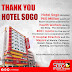Hotel Sogo donated 60 Million Pesos worth of Room Accommodations to Health Workers