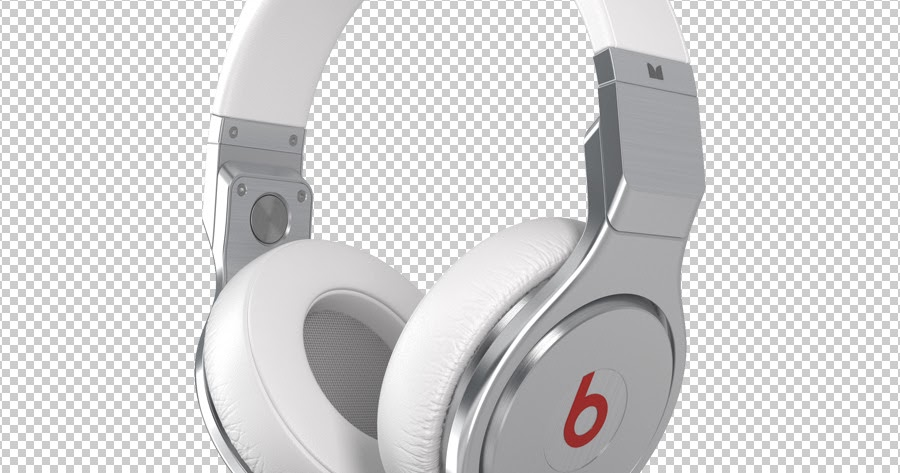 Beats Audio Headphones White Stock Image  Mixtape Cover -1107