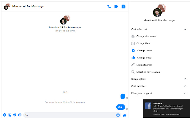 Mention All For Messenger