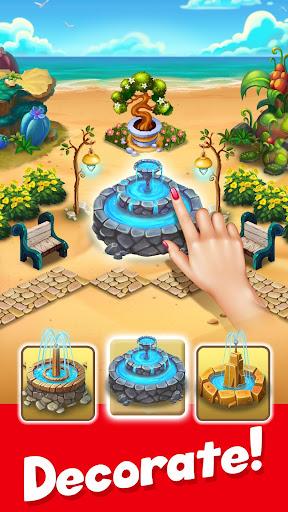 Tropic Trouble Match 3 Builder apkpoly screenshots 2