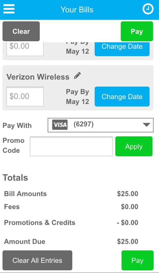 Evolve Money - Bill Pay - screenshot