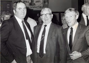 Photo: All Ireland medal winners:  Newport's All Ireland S.H. medal holders Noel O'Gorman (1965), Jimmy Butler Coffey (1937) and Michael Jones (1971) photographed together in 1984.
