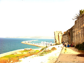 Photo: View from the top of the Kasbah, Tangiers.