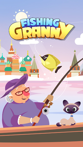Fishing Granny - Funny,Amazing Fishing Game apkmind screenshots 1